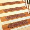 Rhody Rug Olivia Burgundy/Red Stair Tread (Set of 13)