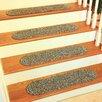 Rhody Rug Mila Graphite Stair Tread (Set of 13)