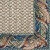 <strong>Siskiyou Light Blue Acanthus Bordered Rug</strong> by Fibreworks