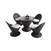 International Design USA Martini 5 Piece Dining Set with Cushions
