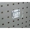 <strong>Triton Products</strong> LocHook 2-1/4 In. Curved 2 In. I.D. Zinc Plated Steel Pegboard Hook for LocBoard, 5 Pack