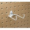 <strong>Triton Products</strong> DuraHook 2-3/4 In. Double Rod 80 Degree Bend 1/4 In. Dia. Zinc Plated Steel Pegboard Hook for DuraBoard, 10 Pack