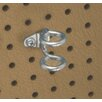 DuraHook 1-7/8 In. Double Ring 3/4 In. I.D. Zinc Plated Steel Tool Holder for DuraBoard, 10 Pack