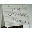 <strong>Magnetic Double Sided Dry Erase 2' x 2.83' White Board</strong> by Copernicus
