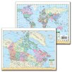 Universal Map Canada and World Notebook Map