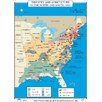 Universal Map U.S. History Wall Maps - Industry & Agriculture in North & South