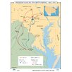 <strong>Universal Map</strong> U.S. History Wall Maps - Gettysburg Campaign