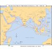 <strong>World History Wall Maps - Trade Routes in the Indian Ocean</strong> by Universal Map