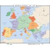 <strong>Universal Map</strong> World History Wall Maps - Medieval Europe