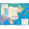 Universal Map World History Wall Maps - East Asia 1850-1900