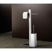 Bridge Bathroom Butler with Double Toilet Paper Holder and Toilet Brush in Chrome