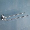 Maine Jointed Double Towel Bar in Chrome