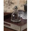 Zodax Barclay Butera Equestrian Hide Glass Decanter with Metal Stopper