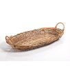 Zodax Arurog and Rattan Oval Tray