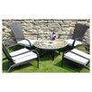 <strong>Europa Leisure</strong> Alicante 5 Piece Round Low Dining Set with Tarifa Chair