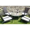 Alicante 5 Piece Round Low Dining Set with Tarifa Chair