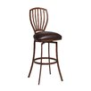 "Pastel Furniture Tropez 30"" Swivel Bar Stool with Cushion"