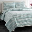 City Scene Square Game Lagoon Quilt Set