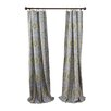 City Scene Milan Gray Cotton Lined Curtain Panel (Set of 2)