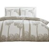 City Scene Tree Top Duvet Cover Set in Beige
