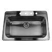 "Nantucket Sinks 33"" x 22"" Single Bowl Stainless Steel Kitchen Sink"