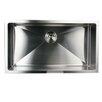 "Nantucket Sinks 32"" x 18"" Small Radius Stainless Steel Kitchen Sink"