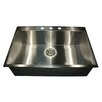 "Nantucket Sinks 33"" x 22"" Self Rimming Single Bowl Kitchen Sink"