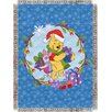 Northwest Co. Entertainment Tapestry Holiday Pooh - Home Made Holiday Polyester Throw Blanket