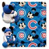 Northwest Co. MLB Chicago Cubs Mickey Mouse Fleece Polyester Throw
