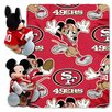 Northwest Co. NFL San Francisco 49ers Mickey Mouse Polyester Fleece Throw