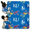 Northwest Co. NCAA Kansas Mickey Mouse Polyester Fleece Throw