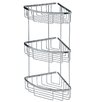 "WS Bath Collections Filo 7.8"" x 7.8"" Shower Basket Triple in Polished Chromed"