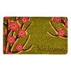 Design by AKRO Welcome Floral Coir Doormat