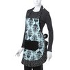 Flirty Aprons Women's Original Apron in Aqua Damask