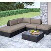 <strong>dCOR design</strong> Seattle 6 Piece Lounge Seating Group with Cushion