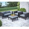 <strong>dCOR design</strong> Oakland 5 Piece Lounge Seating Group with Cushion