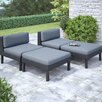 dCOR design 4 Piece Oakland Chaise Lounge with Cushion Set