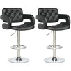 dCOR design Adjustable Height Swivel Bar Stool (Set of 2)