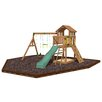 <strong>Playtime Swing Sets</strong> Eagle Point Swing Set with Rubber Mulch
