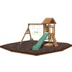 <strong>Playtime Swing Sets</strong> Riviera Swing Set with Rubber Mulch