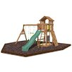 <strong>Playtime Swing Sets</strong> Seminole Swing Set with Rubber Mulch