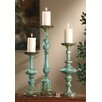 Crestview Collection 3 Piece Sea Side Metal Ayla Candlestick Set