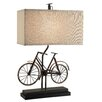 "Crestview Collection Wine Country Biking 26.5"" H Table Lamp with Rectangular Shade"