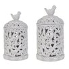 Crestview Collection French Regent 2 Piece Birdsong Canisters