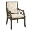 <strong>Crestview Collection</strong> Driftwood French Script X-Arm Chair