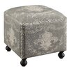 Crestview Collection Fleur De Lis Accent Stool
