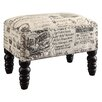 <strong>Crestview Collection</strong> French Script Accent Stool
