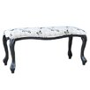 Crestview Collection Butterfly Upholstered Accent Bedroom Bench