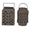 <strong>The Hamptons 2 Piece Lanterns Set</strong> by Crestview Collection