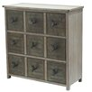 Crestview Collection Country Garden 3 Drawer Chest